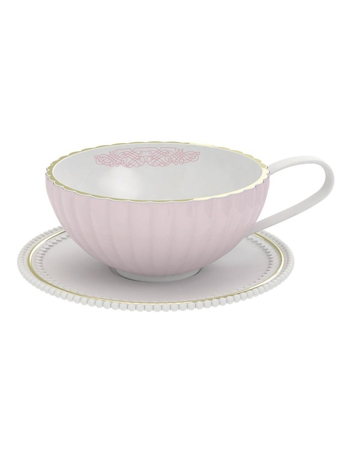 Eclectic Tea Cup And Saucer - 250Ml - Pink image 1