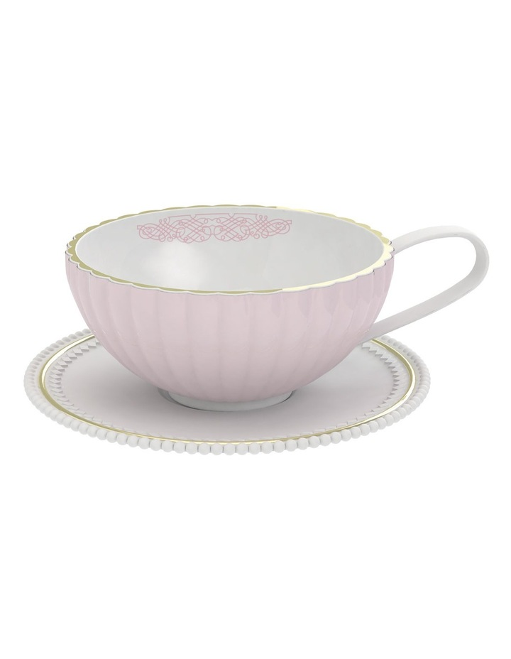 Eclectic Tea Cup And Saucer - 250Ml - Pink image 2