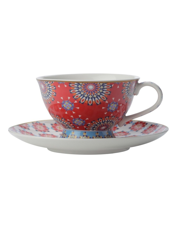 Teas & C's Isfara Foot Cup & Saucer Pashar Red 200ML Gift Boxed image 1