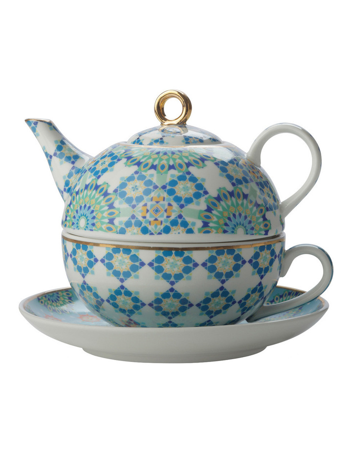 Teas & C's Isfara Tea For 1 Bukhara Blue 300ML Gift Boxed image 1