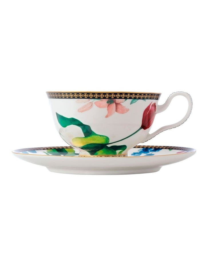 Teas & C's Contessa Footed Cup & Saucer 200ML White Gift Boxed image 1
