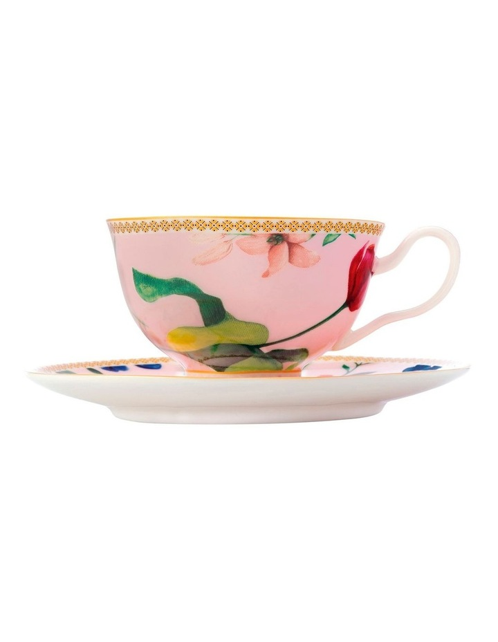 Teas & C's Contessa Footed Cup & Saucer 200ML Rose Gift Boxed image 1