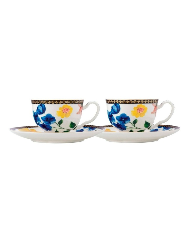 Teas & C's Contessa Demi Cup & Saucer 85ML Set of 2 White Gift Boxed image 1