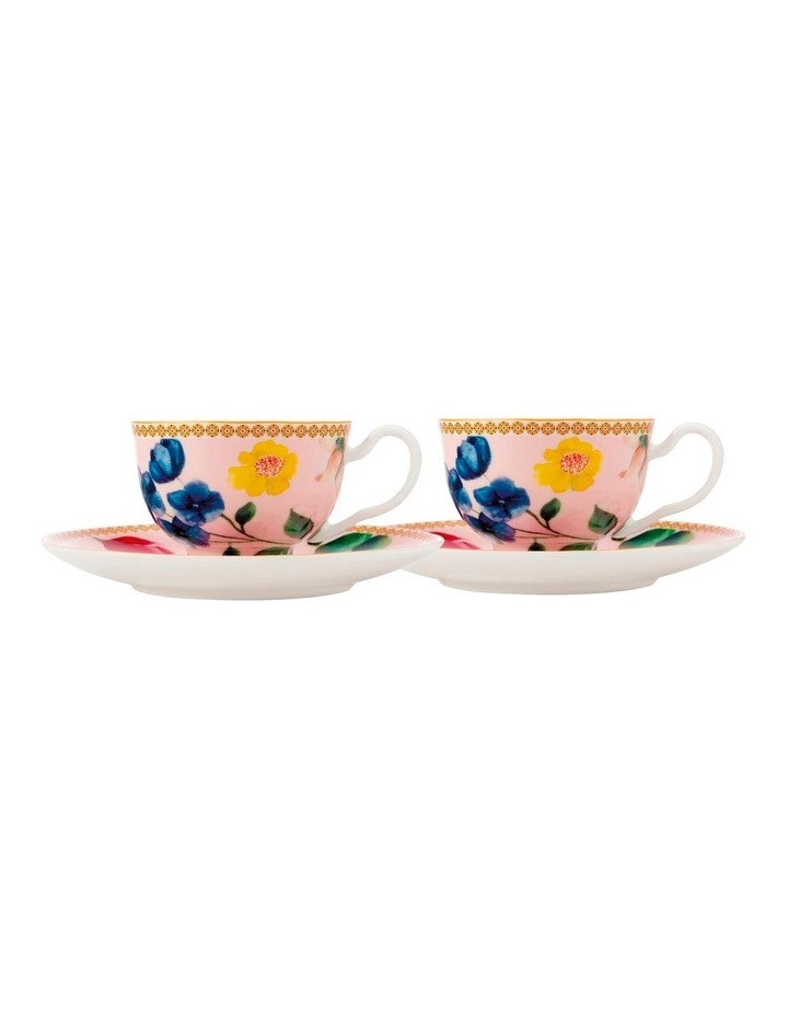 Teas & C's Contessa Demi Cup & Saucer 85ML Set of 2 Rose Gift Boxed image 1