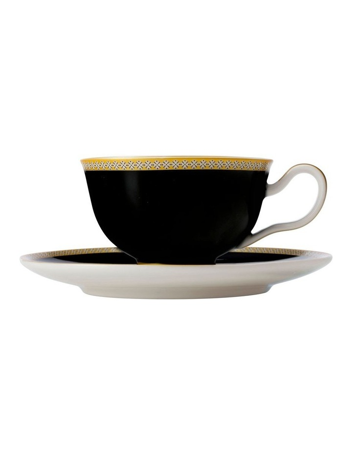 Teas & C's Contessa Classic Footed Cup & Saucer 200ML Black Gift Boxed image 1