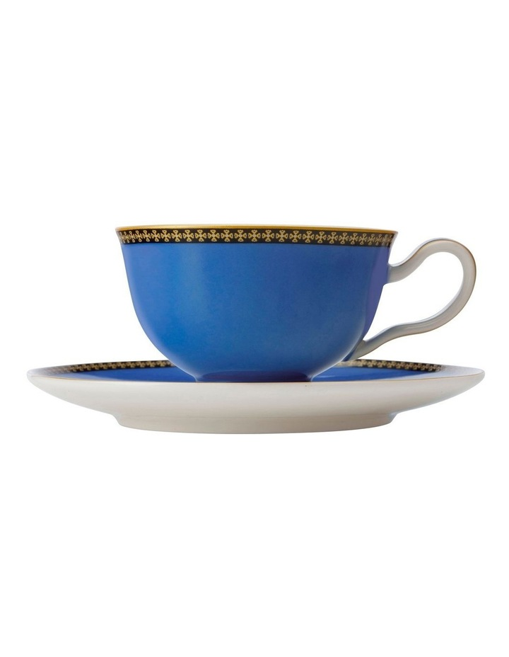 Teas & C's Contessa Classic Footed Cup & Saucer 200ML Blue Gift Boxed image 1