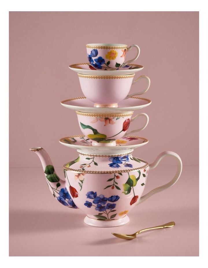 Teas & C's Contessa Classic Footed Cup & Saucer 200ML Red Gift Boxed image 2