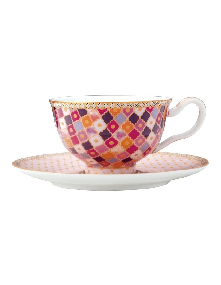 Teas & C's Kasbah Footed Cup & Saucer 200ML Rose Gift Boxed image 1