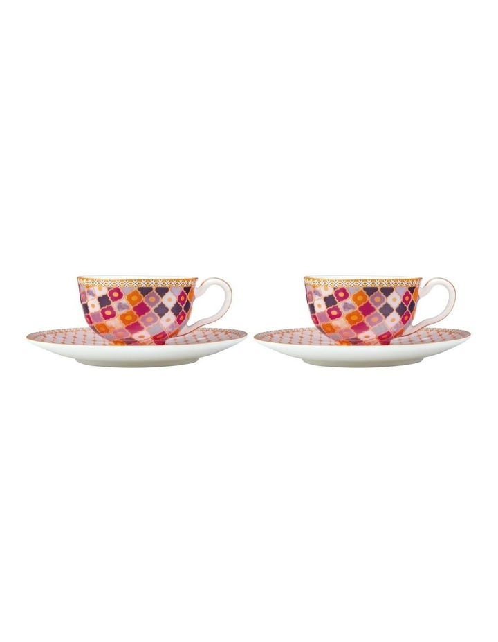 Teas & C's Kasbah Demi Cup & Saucer 85ML Set of 2 Rose Gift Boxed image 1