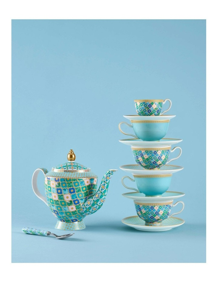 Teas & C's Classic Footed Cup & Saucer 200ML Turquoise Gift Boxed image 2