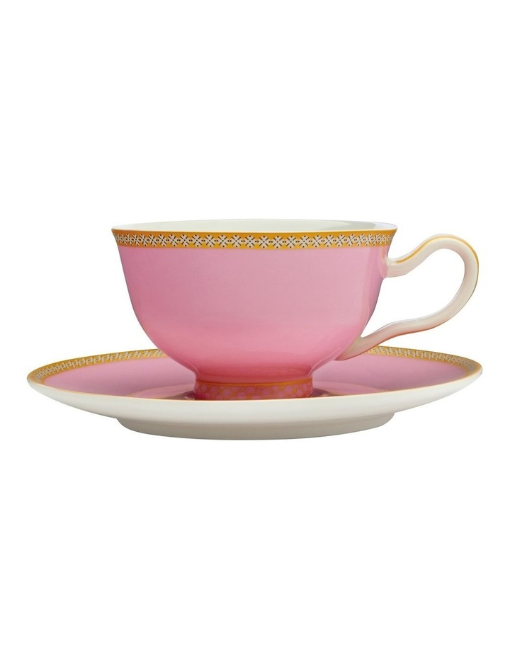 Teas & C's Kasbah Classic Footed Cup & Saucer 200ML Hot Pink Gift Boxed image 1