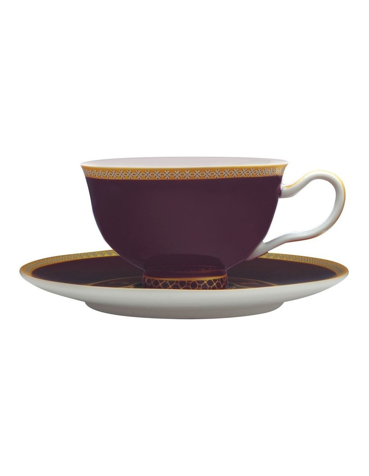 Teas & C's Classic Footed Cup & Saucer 200ML Violet Gift Boxed image 1