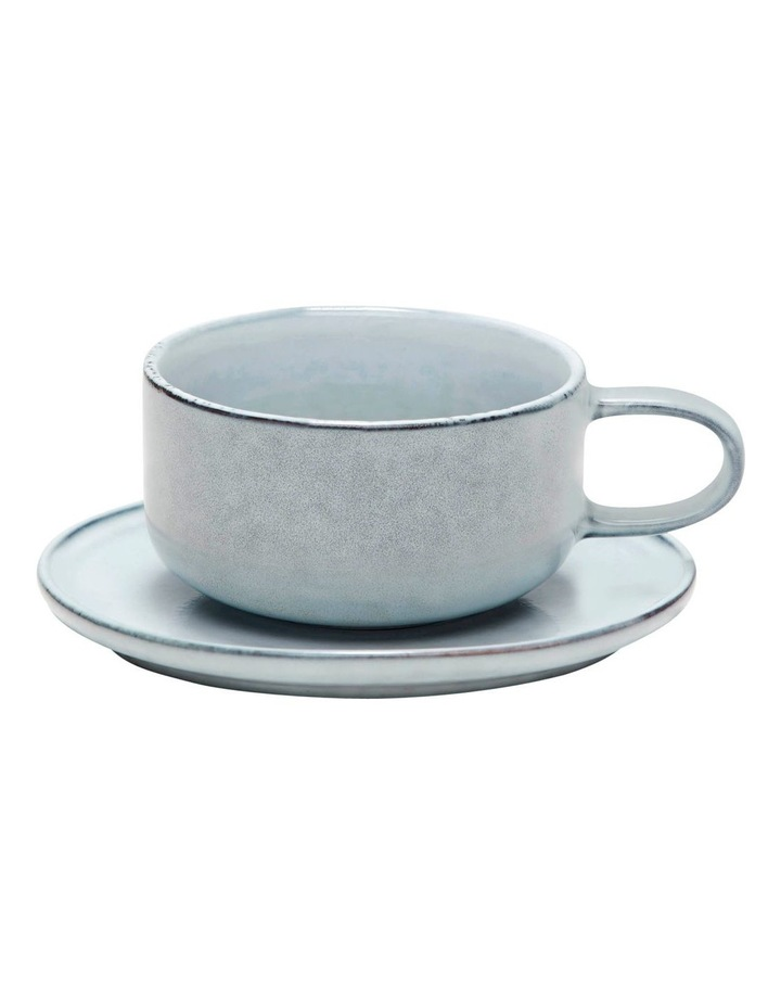 RELIC Tea Cup & Saucer - 300ml - Blue - Set of 6 image 2