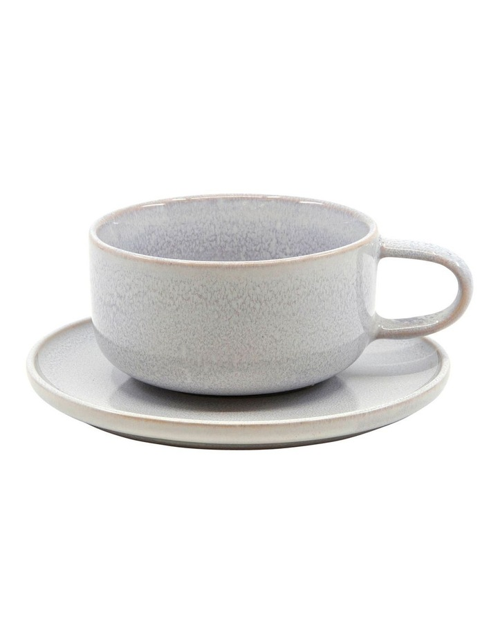 RELIC Tea Cup and Saucer Set - 260ml/15cm - Mist - Set of 6 image 2