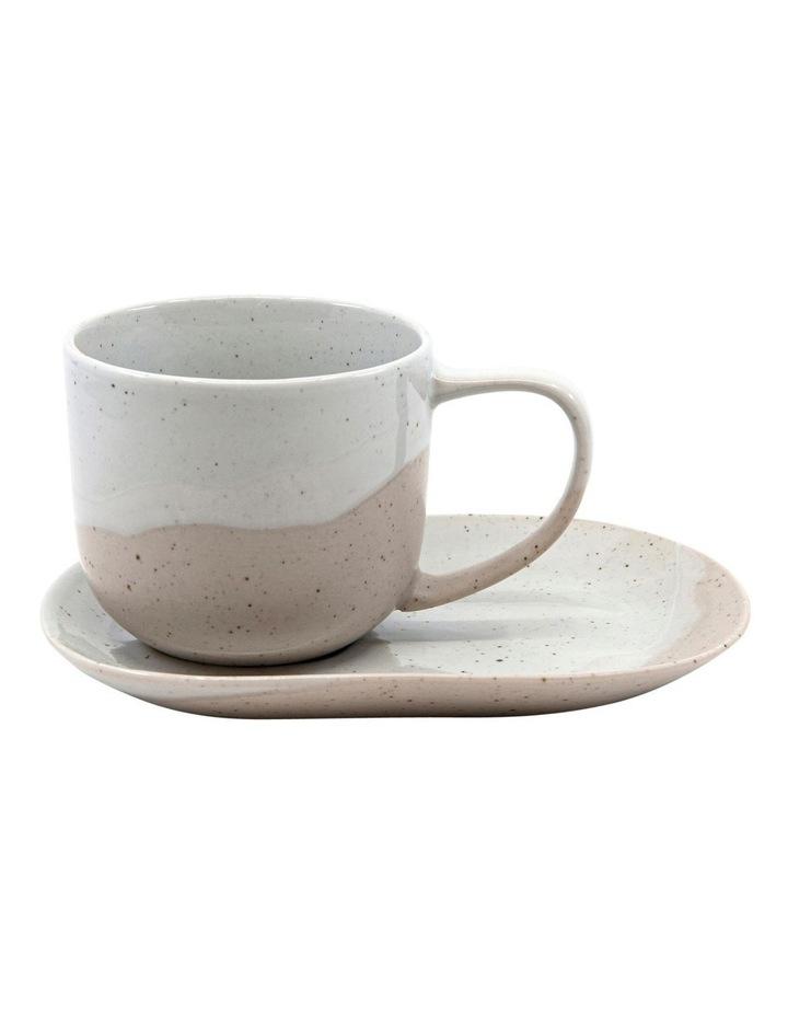 ROAM Tea Cup and Saucer Set - 240ml/16x11cm - Natural - Set of 6 image 2