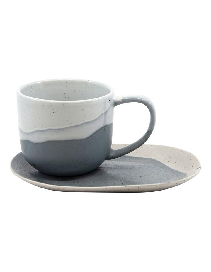 ROAM Tea Cup and Saucer Set - 240ml/16x11cm - Blue - Set of 6 image 2