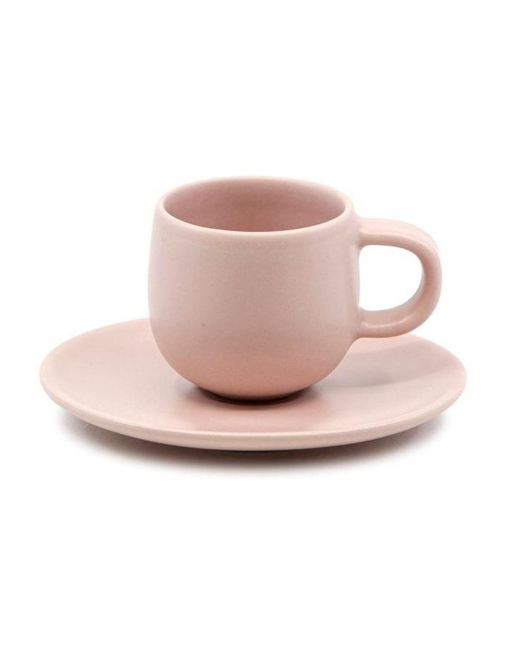 Hue Espresso Cup and Saucer Set 85ml/12cm - Pink - Set of 6 image 2