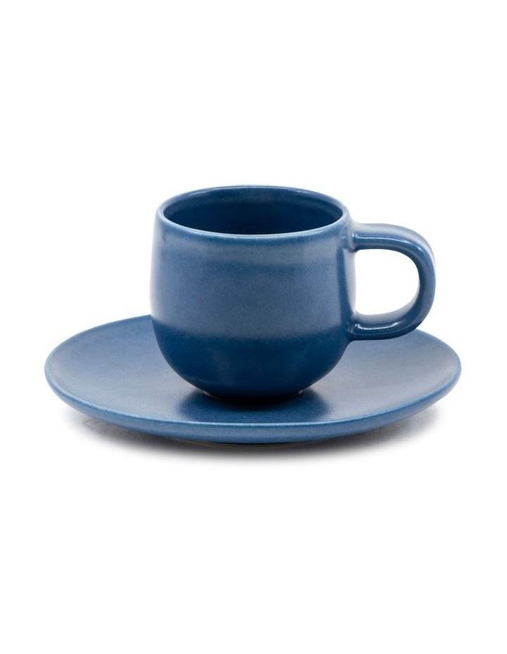 Hue Espresso Cup and Saucer Set 85ml/12cm - Blue - Set of 6 image 2