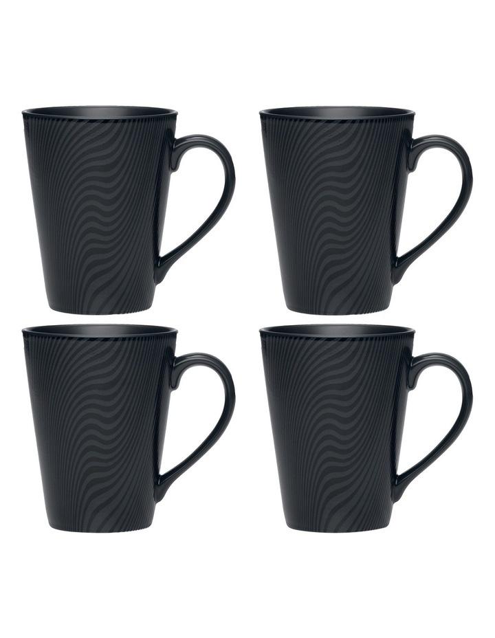 Dune Set of 4 Mugs - Black image 1