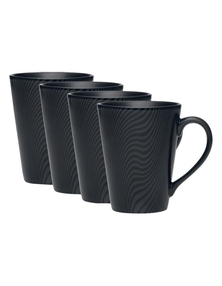 Dune Set of 4 Mugs - Black image 2
