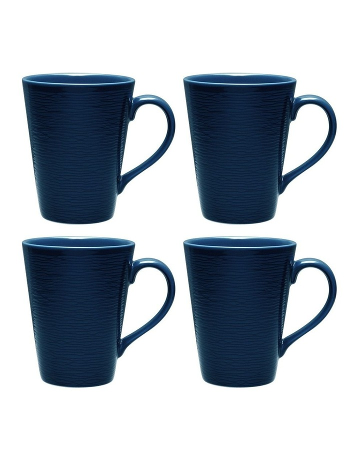 Swirl Set of 4 Mugs - Navy image 1