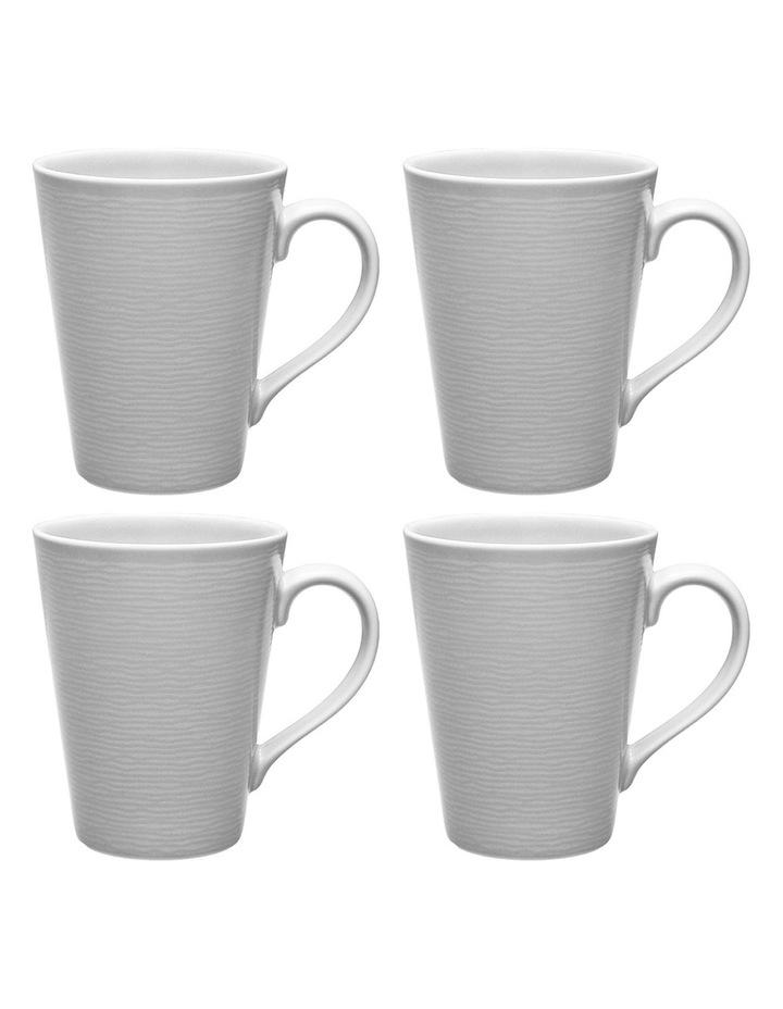 Swirl Set of 4 Mugs - Grey image 1