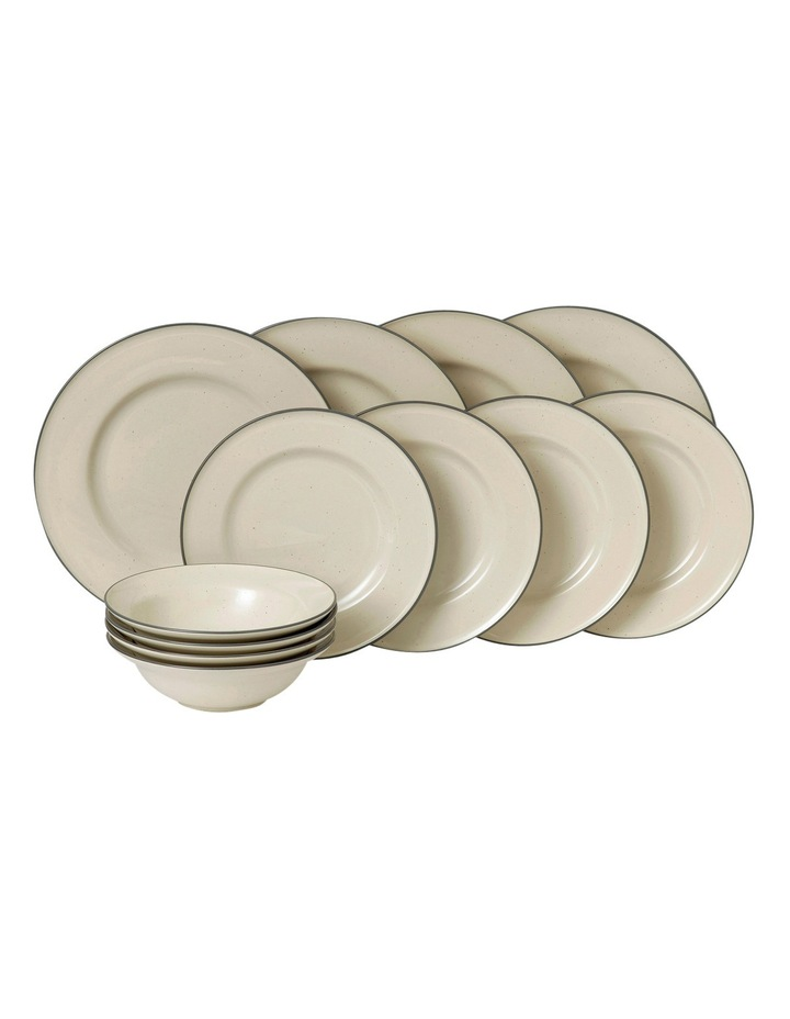 Union St Cafe 12 Piece Dinner Set - Cream image 1
