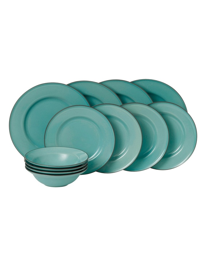 Union St Cafe 12 Piece Dinner Set - Blue image 1