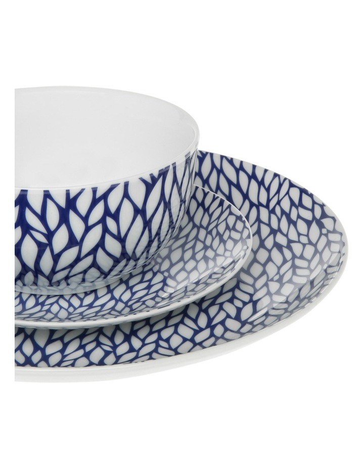 Cerito 12 Piece Dinner Set - Blue image 2
