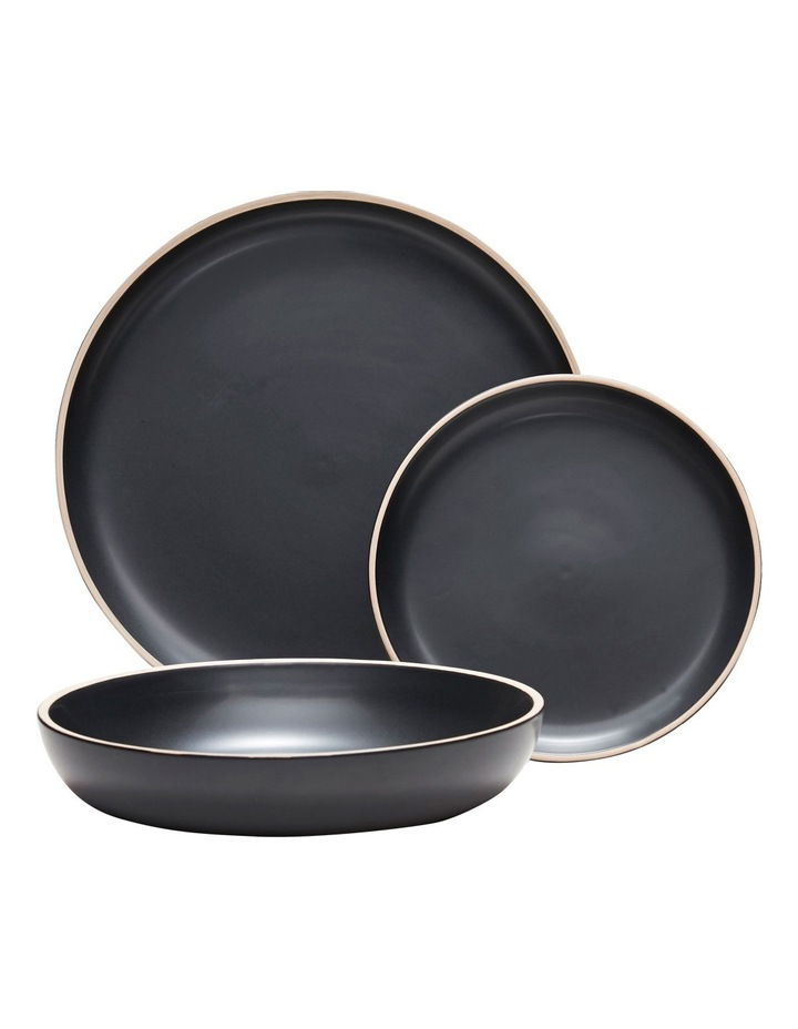 Kuro 12 Piece Dinner Set - Black image 1