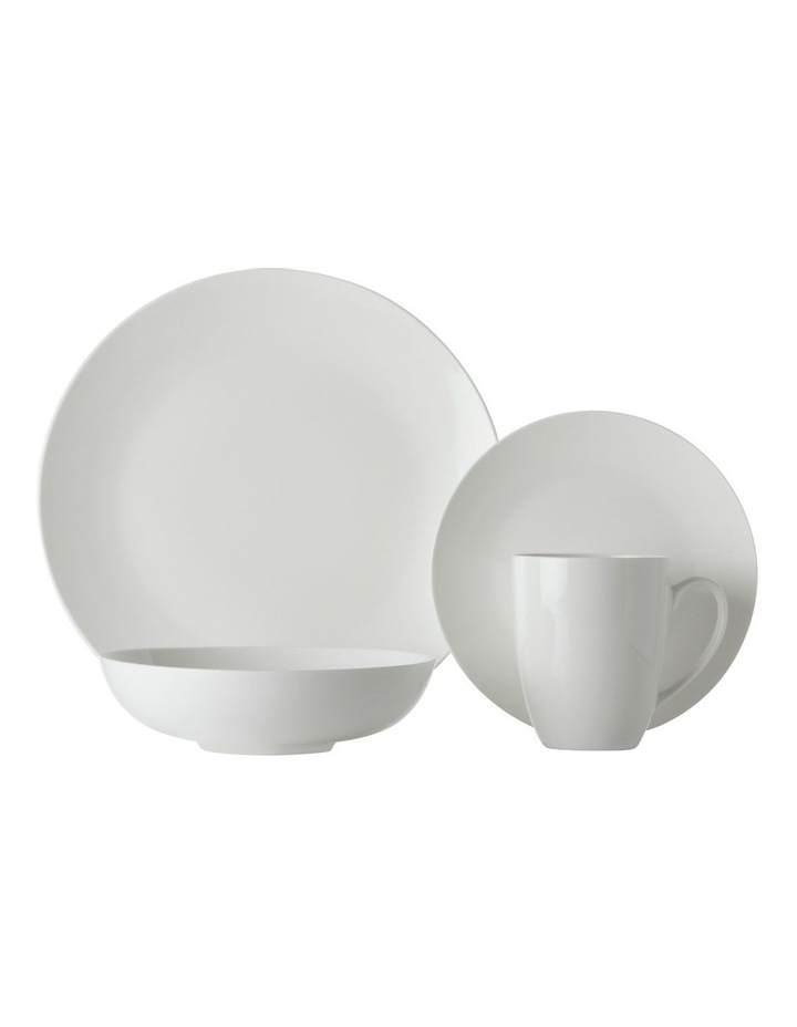 White Basics Fitzrovia Coupe Dinner Set 16 Piece Gift Boxed image 1