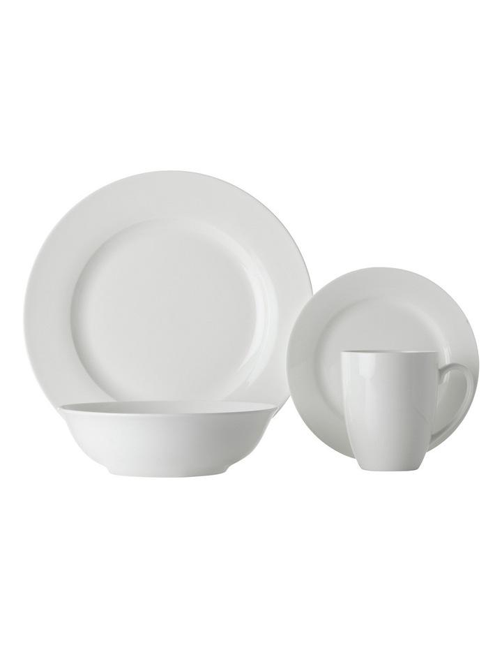 White Basics Soho Rim 16 Piece  Dinner Set  Gift Boxed image 1