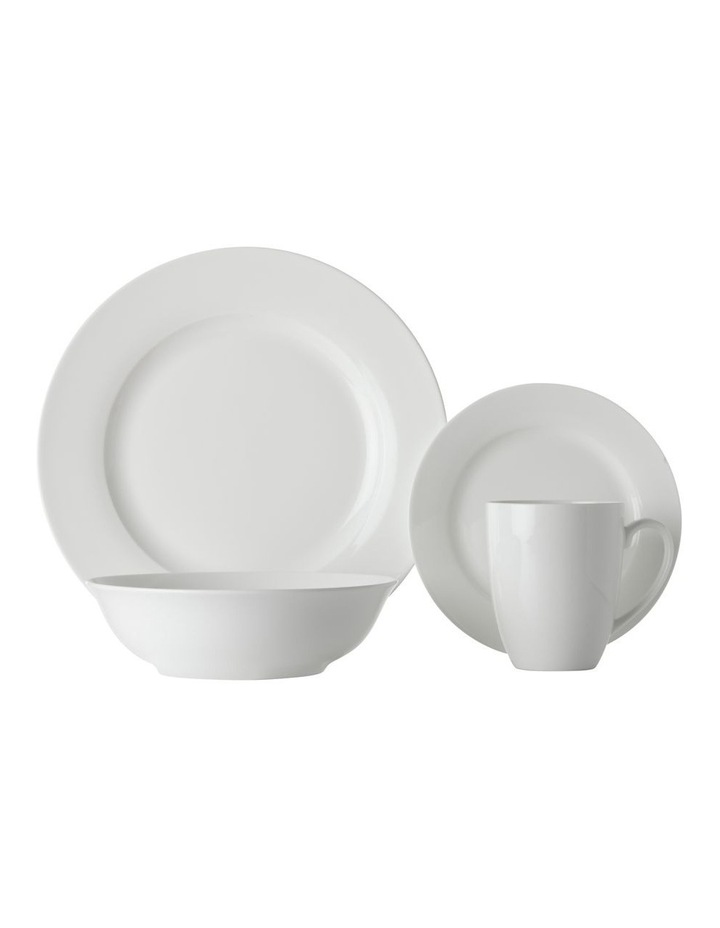 White Basics Soho Rim 16 Piece Dinner Set, Gift Boxed image 1