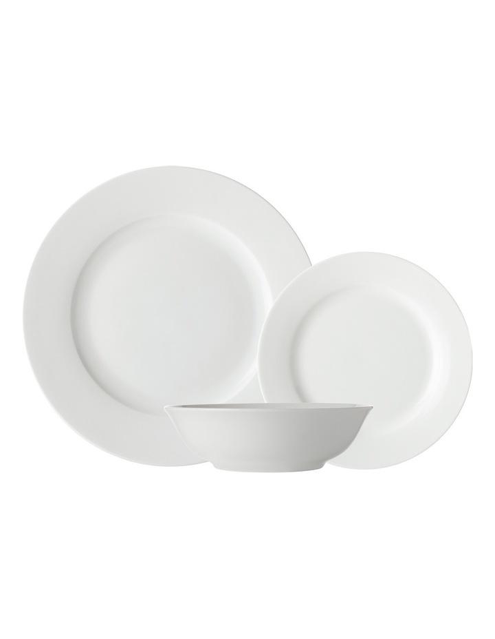White Basics Soho Rim Dinner Set 18pc Gift Boxed image 1