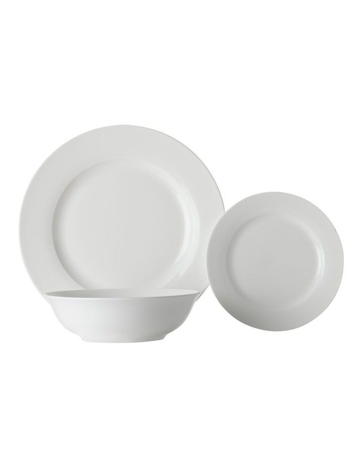 White Basics Soho Rim Dinner Set 18pc Gift Boxed image 1
