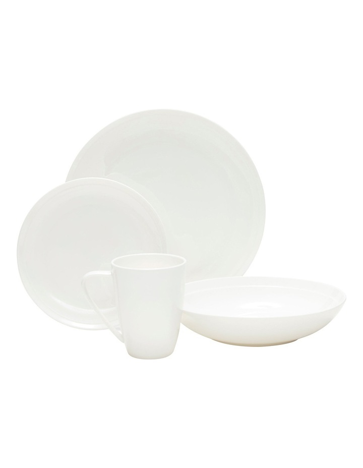 Edge 16 Piece Dinner Set, White image 1