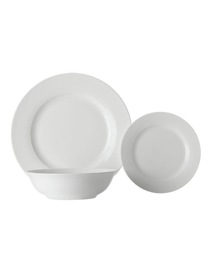 White Basics European Rim Dinner Set 12pc Gift Boxed image 1