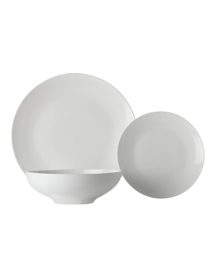 White Basics Tribeca Coupe Dinner Set 18pc Gift Boxed image 1