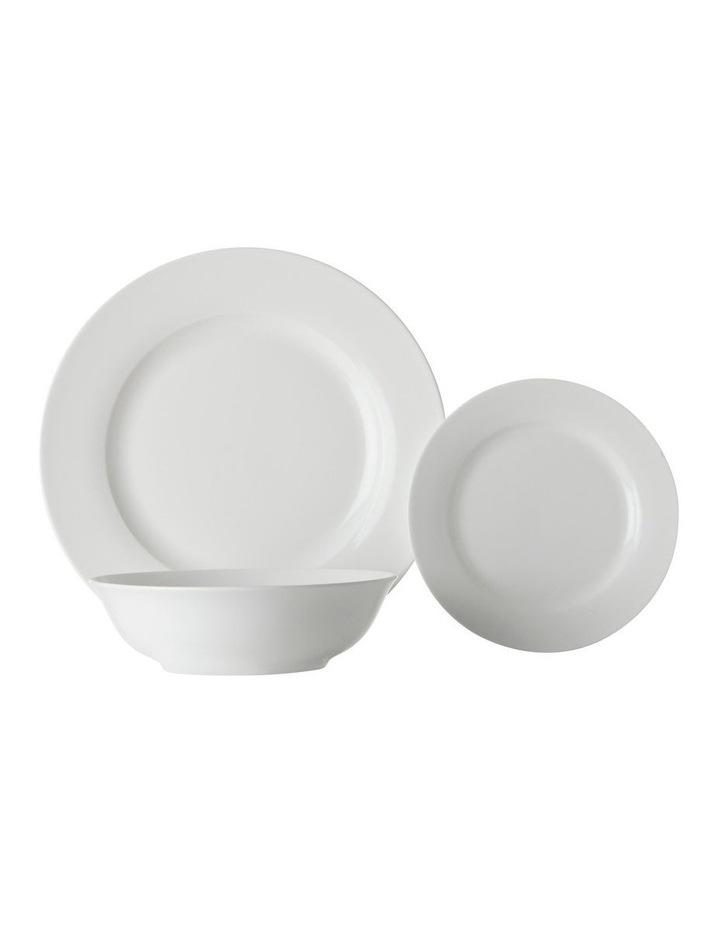 White Basics European Rim Dinner Set 18pc Gift Boxed image 1