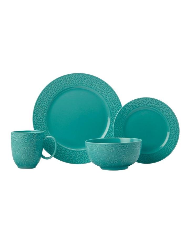 Mantra Rim Dinner Set 16pc Turquoise Gift Boxed image 1