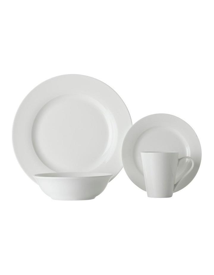 White Basics Cosmopolitan Rim Dinner Set 16pce Gift Boxed image 1