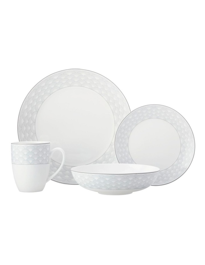 Harlequin Coupe Dinner Set 16 Piece Grey Gift Boxed image 1