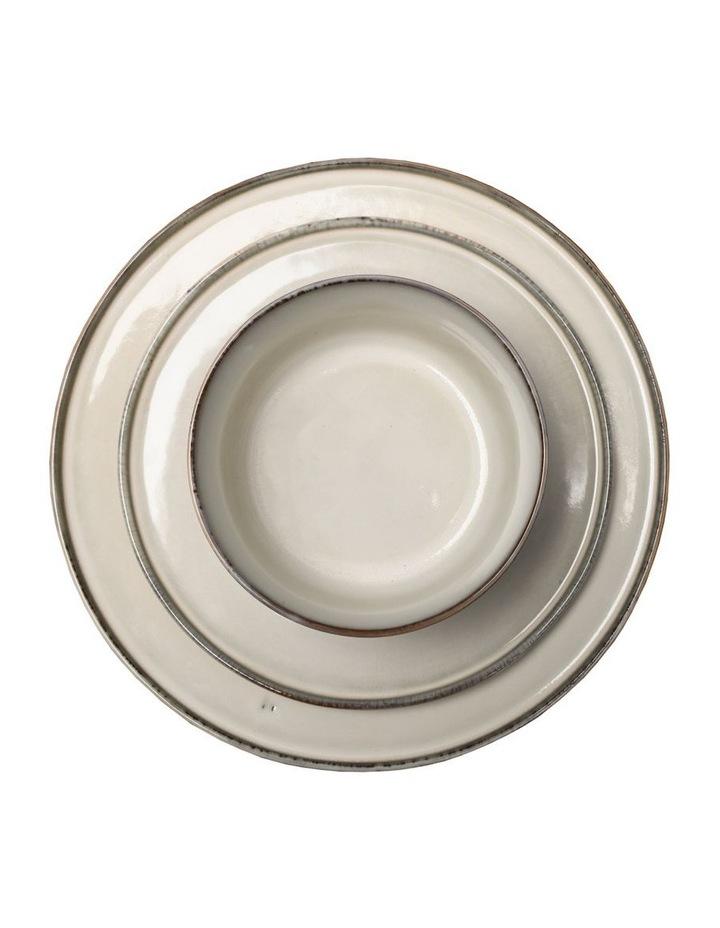 Flat Rim Reactive 12 Piece Dinner Set - Taupe image 3