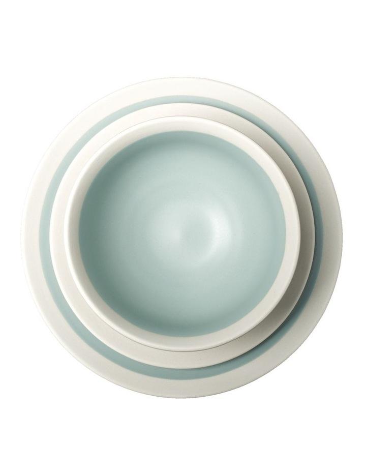 Rippled Circles 12 Piece Dinner Set - Baby Blue image 2