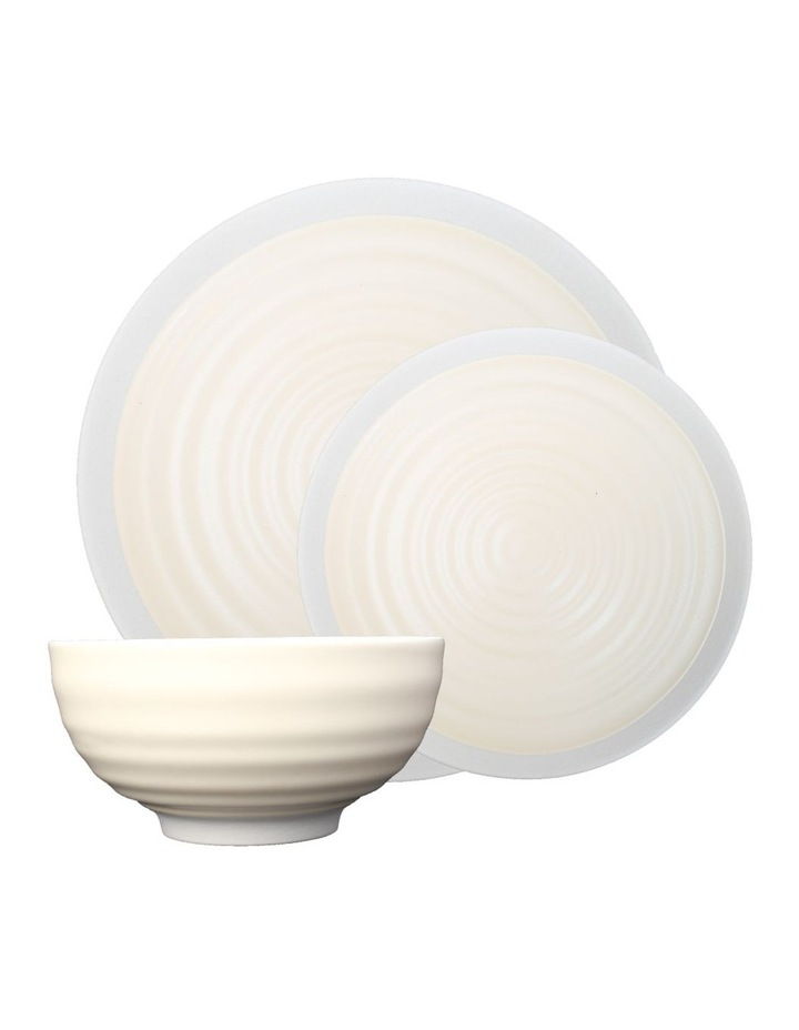 Rippled Circles 12 Piece Dinner Set - Cream image 1
