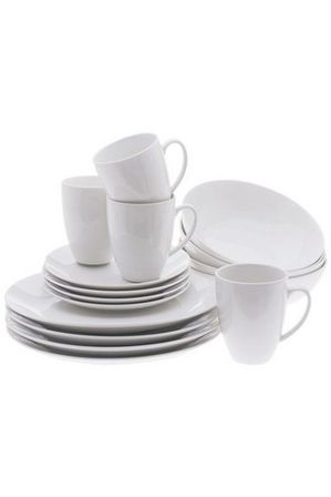 Maxwell & Williams - White Basics Coupe 16 Piece Dinner Set