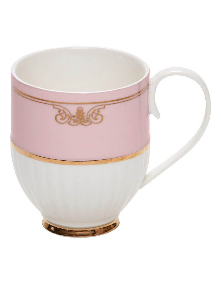 Eclectic Set of 2 Pink Ribbed Mugs  330ml image 1