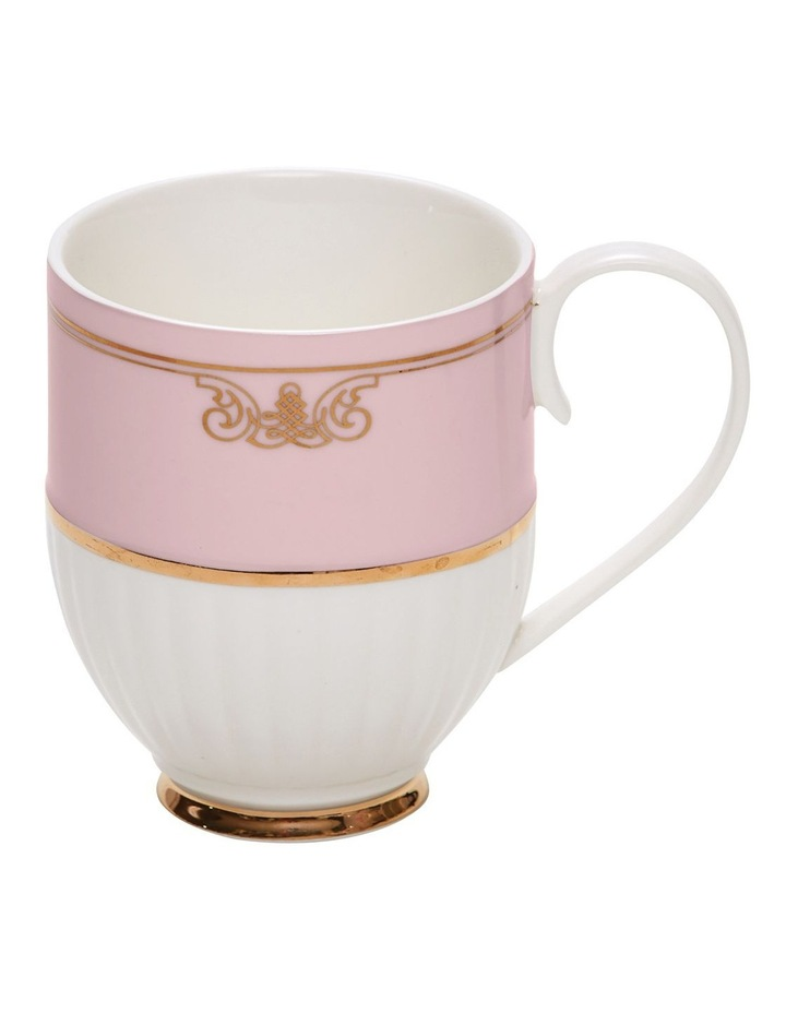 Eclectic Coffee Mugs - 330Ml - Set Of 2 - Pink Ribbed image 1