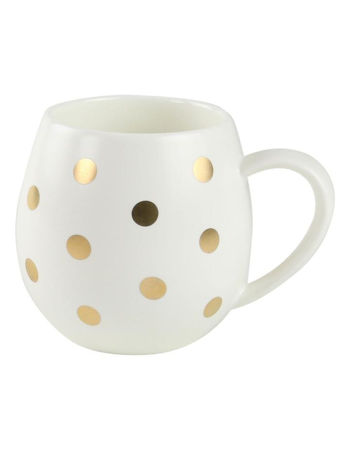 Hug Me Mug  Set of 4 - White & Gold Spot image 1