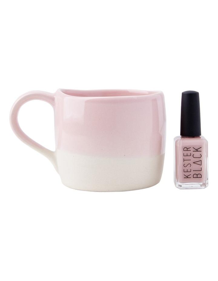 Organic Swatch Mug & Nail Varnish Set Cashmere - Chantilly Pink image 1